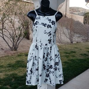 White with Black Floral Pattern